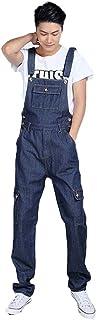 オーバーオール メンズ サロペット つなぎ デニム ストレッチポケット多いロングパンツ 無地 オーバーオール メンズ 大きいサイズ 作業服 デニム オーバーオール ジーンズ デニムパンツ インディゴ