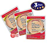Value 3 Pack: Joseph's Flax Oat Bran and Whole Wheat Pita Bread Reduced Carb,18 Pitas