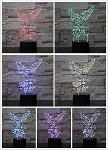 Altavoz Bluetooth Lámpara Nocturna 3D Creativo Led 5 Cambio de Color Increíble...