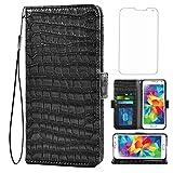 Asuwish Kompatibel mit LG G6 Wallet Case mit gehärtetem