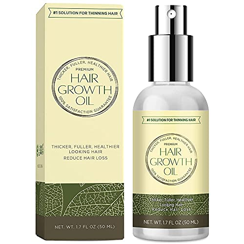 Natural Hair Growth Oil with Caffeine and...