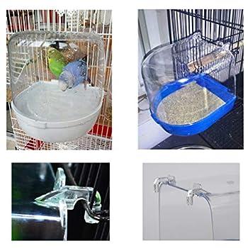 LEVEL GREAT Oiseaux Baignoire Douche Coffre Fort Parrot Cabine de Douche Baignoire pour Animaux Bain Hanging Cage Accessoires Fournitures de Lavage pour Animaux