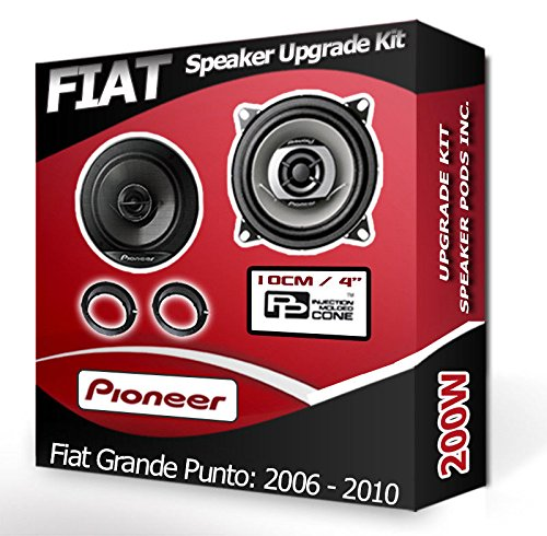 Porte arrière Fiat Grande Punto Haut-parleurs Pioneer Kit haut-parleur de voiture + adaptateur gousses 190 W