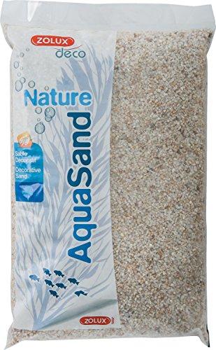 Zolux Gravier Naturel pour Aquarium Quartz Blanc de 1 à 3 mm de Granulométrie 5 kg