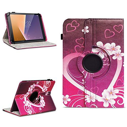 Tasche für Vodafone Tab Prime 7 Tablet Hülle Schutzhülle Hülle 360° Drehbar Cover, Farben:Motiv 2