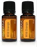 doTERRA Aceite esencial de naranja silvestre de doTERRA 15 ml, paquete de 2