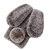 Pumbiiky Plüsch Hülle für Meizu 15 Plus Süße Hasen Ohren Fell Flauschige Kaninchen Haar Weicher bequemer Stoßfest Schützend TPU Hülle,Braun