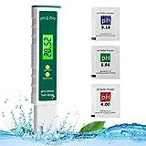 Colmanda Medidor pH, Pantalla LCD Digital de PH Tester, Rango de Medición de pH de -2-16, Calidad Agua Medidor Prueba para Agua Potable, Acuario, Piscina, SPA (A)