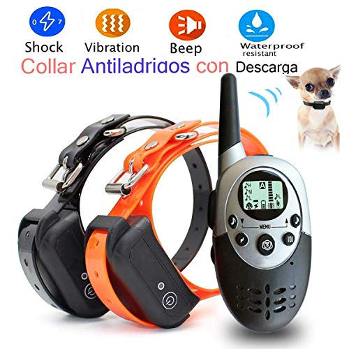 Lingyude Collare per Cani Educazione Collare, Dog Istruzione Collare Impermeabile Senza Fili Ricaricabile Formazione Collare con Telecomando