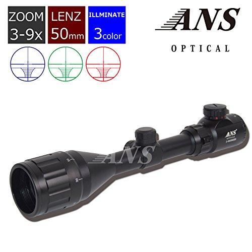 ANS Optical(エーエヌエスオプティカル)『ライフルスコープ フロントフォーカス 3-9×50AOE』