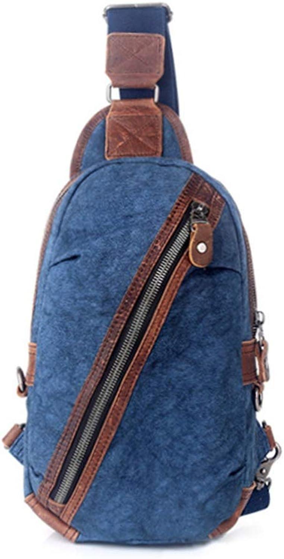 AFCITY Vielseitige vielseitige Outdoor-Daypacks Brusttasche Schultertasche Schulter Crossbody Rucksack wasserdicht für Frauen & Mnner Sling Brusttasche (Farbe   Blau)