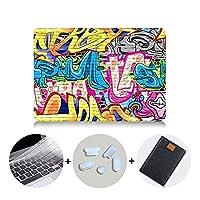 YIBO グラフィティ場合のMacbook Airは11 13のProのRetina 12 13 15 16インチのタッチバーは、2020カバーはマックブックProの13.3 A2289 +ラップトップバッグ (Color : MB16, Size : Pro 15 Retina A1398)