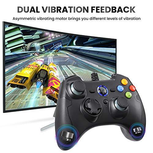 REDSTORM Kabelgebundener PC Controller, Wired Gamepad mit Turbo-Funktion(Dauerfeuer), Plug and Play, Dual Vibration, für PS3/ Windows PC