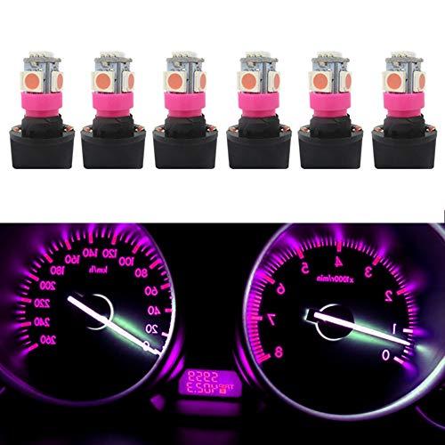 WLJH Lot de 6 ampoules LED T10 168 194 pour tableau de bord Rose T10 168 194