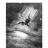ADNHWAN Milton - Paradise Lost - Satan Falls von Gustave