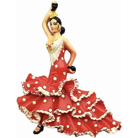 Maison dautocollant et d/écoration de Cuisine Cadeau de MUYU Magnet 3D Danseuse de Flamenco Espagne Aimant de r/éfrig/érateur de Voyage Souvenir