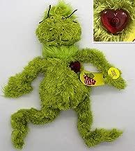 BIBOBO 1piece 38cm Origin Dr Seuss Grinch Plush Toys Grow Your Heart Stuffed Plush Toy with Light up Heart Soft Toys