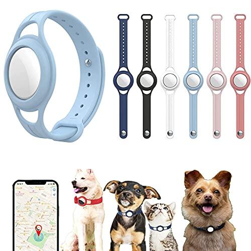 ZSYA Collar De Silicona para Mascotas, Funda De Silicona para Rastreadores De Mascotas, Collar para Gatos con Rastreador GPS, Funda Protectora De Silicona para Apple Air_Tag GPS Finder Dog Cat Collar
