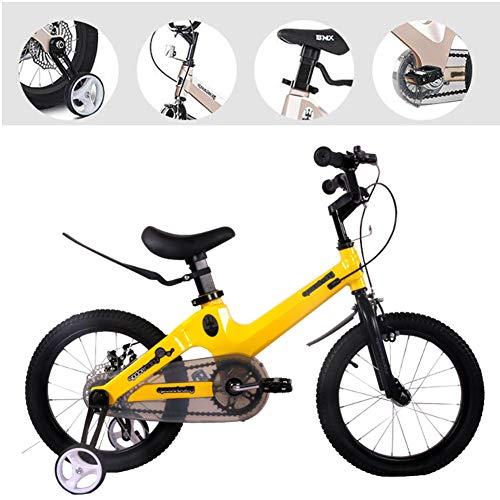 HSJDP Bicicletta Bambino per Bambini/Bambine Piccola Bicicletta Portatile Cambio Freno a Disco Biciclette per Bambini da 12-18 Pollici Adatto a Ragazzi E Ragazze dai 3 Ai 7 Anni
