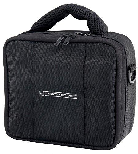 Pronomic RB-Flex Transporttasche für Handyrecorder, Digitalkamera, Mikrofone, DJ/PA Zubehör (mehrere Fächer zum sicheren Verstauen, zusätzliches Seitenfach, zusätzlicher Schutzüberzug, 2cm Polsterung)