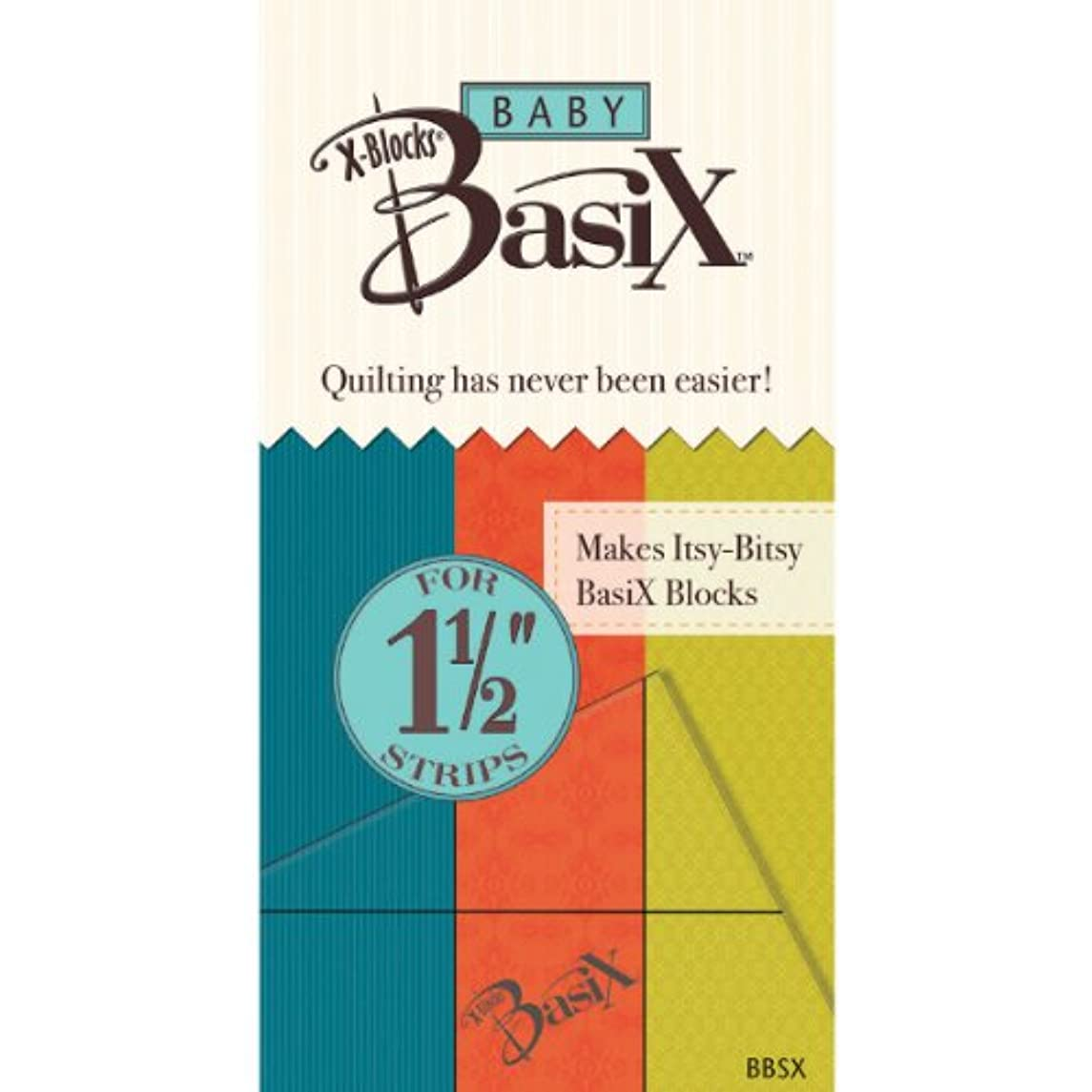 Colonial Needle BBSX Baby Basix by X-Blocks Template, 1-1/2-Inch