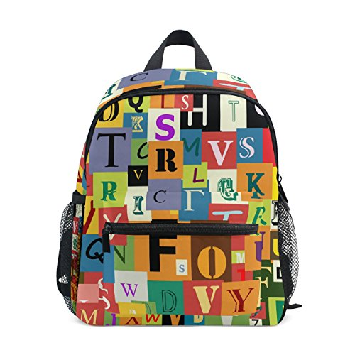 MyDaily Kinder Rucksack Bunte ABC Alphabet Kinderzimmer Taschen für Vorschulkinder
