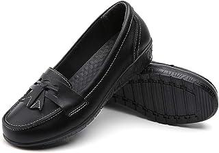 Bitiger mocassini scarpe per le donne in pelle piatto Penny Ladies casual comodo Slider tacco basso scarpe da lavoro Slip-...