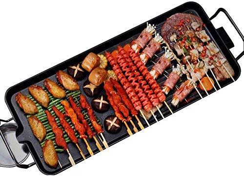 4YANG Elektrogrill BBQ, Elektrischer Teppanyaki Tischgrill 1-6 Personen Rauchloser elektrischer Grill, mit Ölfilterfunktion, 5-Stufen-Steuerung, 2-in-1-Antihaft-Heizplatte