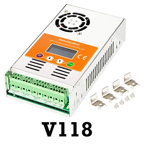 MakeSkyBlue 30A MPPT Charge Controller, Max Input 160V DC 1200W Solar Panel, LCD Display, Auto 12V/24V/36V/48V Battery System (30A-V118)