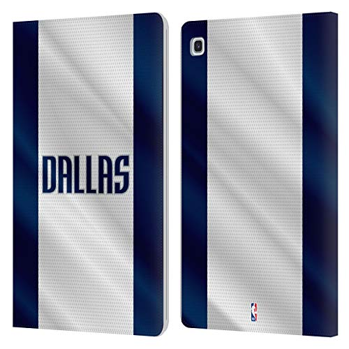 Officiële NBA Jersey Dallas Mavericks Lederen Book Portemonnee Cover Compatibel voor Samsung Galaxy Tab S5e