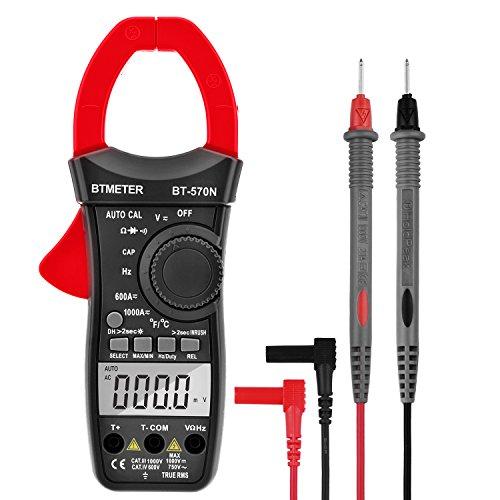 Inrush Current Clamp Multimeter, BTMETER BT-570N TRMS 6000 Count Clamp-on Amp Meter for AC/DC Voltage Amperage Ohm Temperature Test