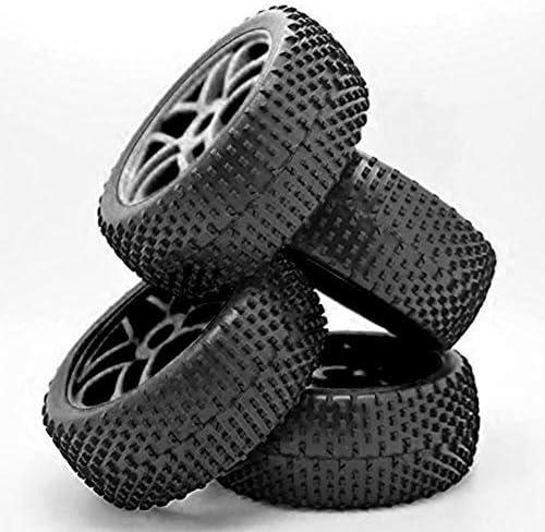 Auto Gummi Radreifen im Maßstab 1:64 Nabenfelgen mit weichen Gummireifen für