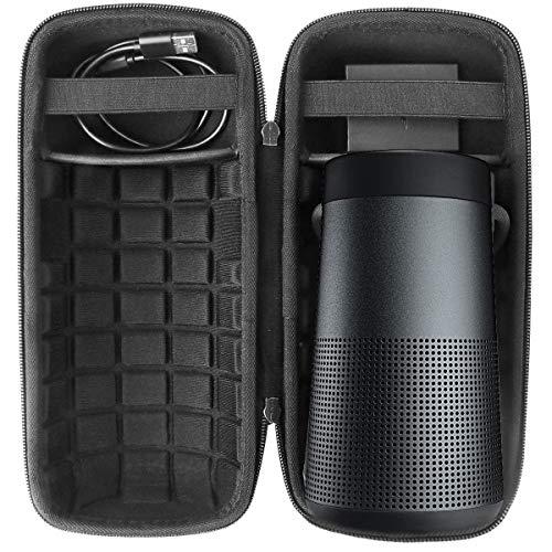 Khanka Hard Travel Case Replacement for Bose SoundLink Revolve Bluetooth Speaker (black)