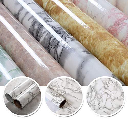 Dubleir Marmortapete, selbstklebende PVC-Vinylfolientapete, wasserdichter Möbelaufkleber, dekoratives Kontaktpapier, Wandaufkleber für die Küchenarbeitsplatte im Badezimmer, 39,37 23,62 Zoll