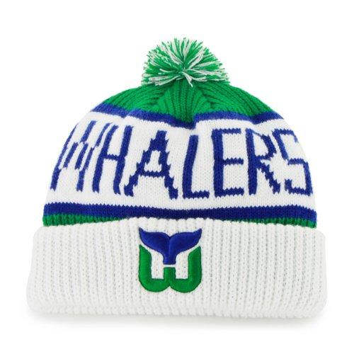 f9be5e83735  47 Brand Calgary Cuff Beanie Hat with POM POM - NHL Hockey Cuffed Winter  Knit.