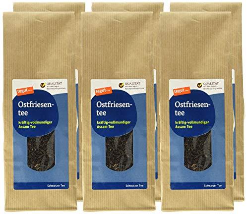 tegut... Loser Ostfriesen-Tee, 6er Pack (6 x 175 g)