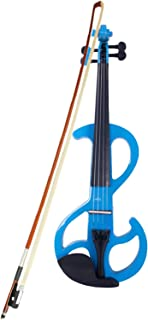 Sponsored Ad - Trlec gt4-ly High-grade 8 Pattern Electroacoustic Violin Kit (Case Bow Rosin) Blue