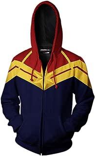 Ms. Captain Hoodie Carol Danvers Adult Zip Up Hooded Sweatshirt 3D Printed Cosplay Costume Jacket