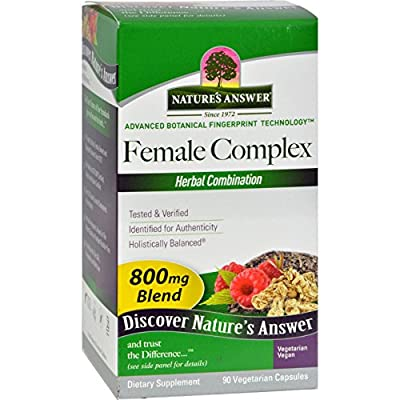 Nature's Answer Female Complex Herbal Combination - 800mg - 90 Vegetarian Capsules