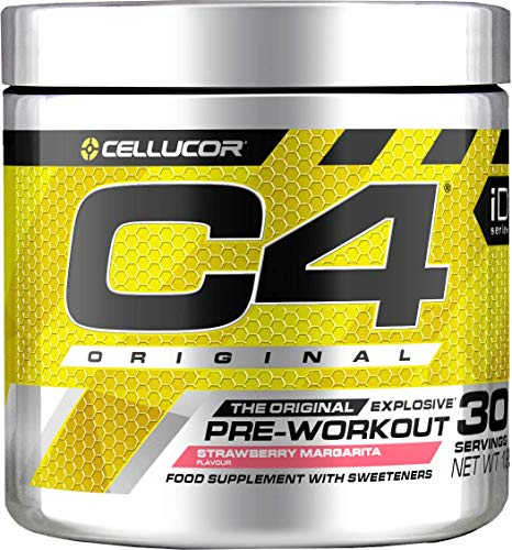 Pre-workout Powder C4 Original Strawberry Margarita | Sugar Free Pre-workout Energy Drink Supplement for Men & Women | 150 mg Cafeïne + Bèta-alanine + Creatine-monohydraat | 30 Doseringen