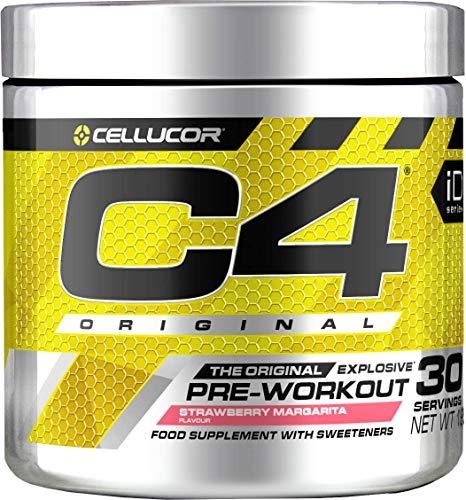 Pre-workout Powder C4 Original Strawberry Margarita | Sugar Free Pre-workout Energy Drink Supplement for Men & Women | 150mg Cafeïne + Bèta-alanine + Creatine-monohydraat | 30 Doseringen