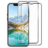 """Amazon Basics Protection d'écran intégrale en verre trempé pour iPhone XR et iPhone 11 6,1"""" / 15,49 cm (lot de 2)"""
