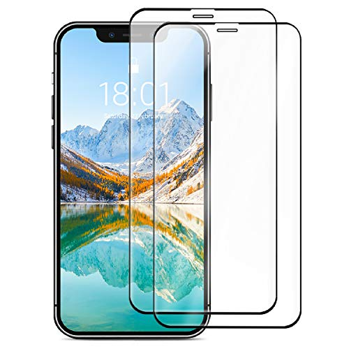 Amazon Basics Full Coverage Tempered Glass Screen Protector for iPhone XR and iPhone 11, 6.1 Inches/15.49 cm (Pack of 2)