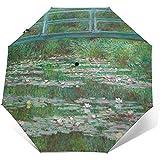 Ombrello da viaggio antivento stampato con passerella giapponese Ombrelli automatici - Telo rinforzato antivento, Apertura/chiusura automatica