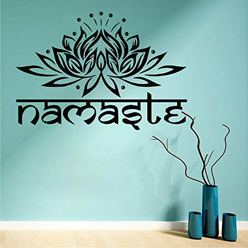 yaonuli Yoga Loto Adesivo da Parete in Vinile Adesivo Mandala Buddha Simbolo Adesivo da Parete Soggiorno Decorazione della casa Colla Carta da parati43X63cm