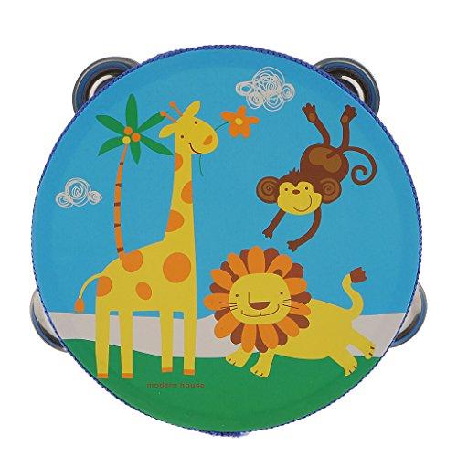 Juguetes Instrumentos Musicales de Percusión Campana Tambor Panderetas Madera Niños - Animales Bosque