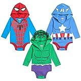 Marvel Avengers Baby Boys 3 Pack Bodysuits...