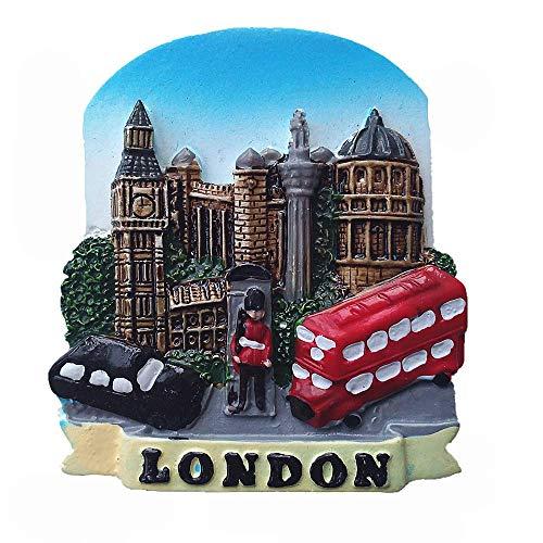 Calamita da frigo 3D con scritta in inglese 'London England' (lingua italiana non garantita)