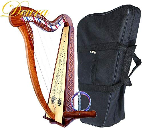 42' Large DEURA Celtic Irish LEVERS FLOOR Harp 29 Strings ROSEWOOD FOLK DH-2900L