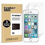 iVoler [3 Pack] Pellicola Vetro Temperato per iPhone SE / 5S / 5 / 5c, Pellicola Protettiva, Protezione per Schermo